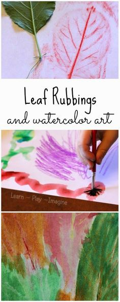 How to make watercolor leaf rubbings - fall art for kids