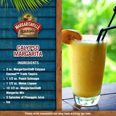 My mind is here, but my body is in the Caribbean enjoying a Calypso Margarita- Try one!