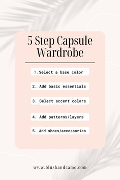 A capsule wardrobe is a limited amount of clothing pieces that can easily be paired together to create a number of different outfits! The benefits of this method include saving money on unneeded clothing, freeing up space in your closet, and taking less time to decide what to wear each day! #capsulewardrobe #fashion #ootd #womensfashion #howtocapsulewardrobe #capsulewardrobework