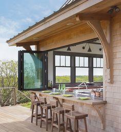 cocinas abiertas al exterior: bajo techado