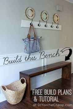 Entryway Bench Build Plans & Tutorial