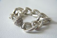 Silver Chunky Chain Bracelet by TaylorMorganDesign on Etsy