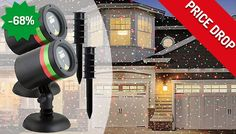 From £18.99 create your own dazzling light show this Christmas with the Festive Laser Light Projector and save 68%