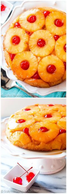 Here is my absolute FAVORITE recipe for Pineapple Upside Down Cake! Pineapple Upside Down Cake, Pineapple Cake, Pineapple Recipes, Just Desserts, Delicious Desserts, Yummy Food, Yummy Drinks, Baking Recipes, Cake Recipes
