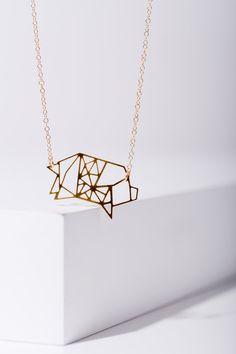 MIZYAN's geometric pig necklace piggy necklace by HananMass
