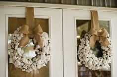 Just love this cotton wreath! It would be super cute for the spring!