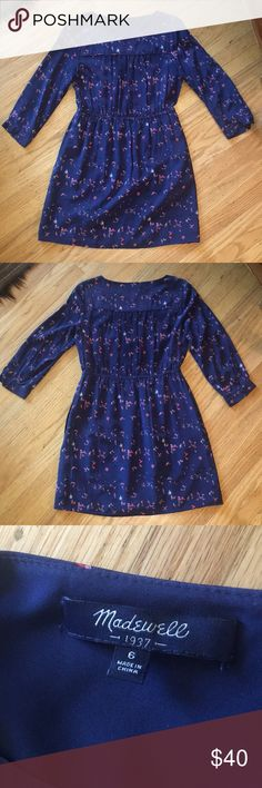 Madewell 100% silk bird print dress with pockets Madewell 100% silk bird print dress with pockets - great condition Madewell Dresses