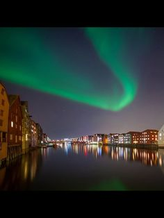 On Tuesday, Aurora was very active over Trondheim and the internet flooded with beautiful pictures of the dancing green lights over the city. Northern Lights Norway, Norway Viking, Northen Lights, Kirkenes, Journey's End, Tromso, Trondheim, Aurora Borealis, Where To Go