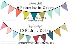 What fun color combos will you make with the returning In Colors from Stampin Up!?
