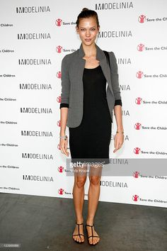Karlie Kloss attends the Modelinia Beautiful Friends Forever Bracelet launch at the Dream Hotel on September 7, 2011 in New York City.