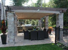 Retractable Outdoor Kitchen Cover in Terrebonne | ShadeFX Canopies
