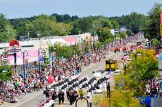 A 100-unit parade throughout downtown Wisconsin Dells helps celebrate the return of autumn during Wo Zha Wa days.