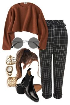 """""""Untitled #5161"""" by olivia-mr ❤ liked on Polyvore featuring Topshop, Uniqlo, Charles Tyrwhitt, Yves Saint Laurent and NA-KD"""