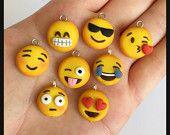 Emoji Charm Polymer Clay Kawaii (Choose One)