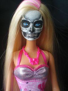 Skull Barbie by SenoraBlanca on Etsy, $25.00
