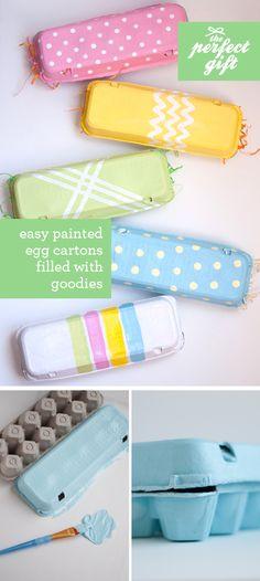 Cajitas de regalo con cartones de huevos