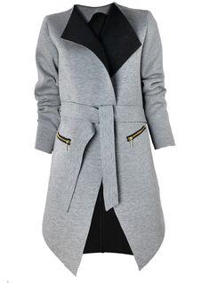 Stilingam pavasario įvaizdžiui! Patogus laisvalaikio džemperis-paltukas su gobtuvu (taip pat siūlome paltuką neapsiūtais kraštais)