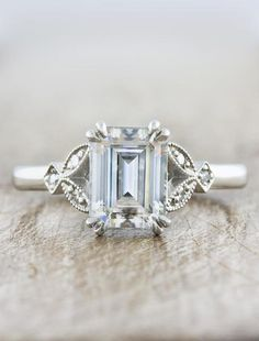 Natural Emerald engagement ring white gold engagement ring vintage Moissanite Delicate wedding women Bridal Promise Anniversary gift for her Description: -Classic style Emerald and diamond ring -Natural Conflict Free Diamonds -comfortable band Natural E Vintage Inspired Engagement Rings, Classic Engagement Rings, Platinum Engagement Rings, Engagement Ring Settings, Morganite Engagement, Ring Verlobung, Diamond Wedding Bands, Wedding Rings, Wedding Stuff