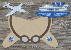 Pack fiesta de avión diseños digitales personalizados