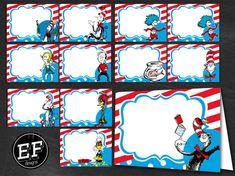 24 Dr Seuss Food Tent Cards INSTANT DOWNLOAD-Dr. Seuss food