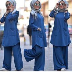 Hijab Casual, Hijab Outfit, Hijab Chic, Hijab Dress, Modesty Fashion, Muslim Fashion, Fashion Dresses, Fashion 2020, Work Fashion
