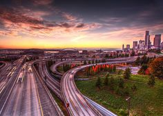 Seattle Sunset, by Jeff Engelhard