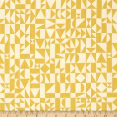 Birch Organic Ipanema Rio Geo Sun from @fabricdotcom  Designed by Dennis Bennett for Birch Fabrics, this GOTS certified organic cotton print fabric is perfect for quilting, apparel and home décor accents. Colors include ivory and mustard.