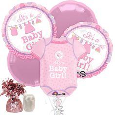 Shower With Love Baby Girl Banner Signs (2 Count) | Banners And Wholesale  Party Supplies