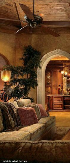 If you are having difficulty making a decision about a home decorating theme, tuscan style is a great home decorating idea. Many homeowners are attracted to the tuscan style because it combines sub… Old World Decorating, Tuscan, Tuscan House, House Exterior, Home Decor, Mediterranean Homes, Tuscan Decorating, World Decor, Mediterranean Decor
