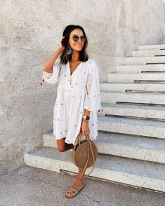 Cozy Dress Outfits To Wear This Summer. Here i will show you Fresh idea of cozy dress outfits to wear this summer Mode Outfits, Fashion Outfits, Fashion Trends, Trendy Outfits, Hipster Outfits, Fashion Clothes, Fashion Ideas, Fashion Tips, Spring Summer Fashion