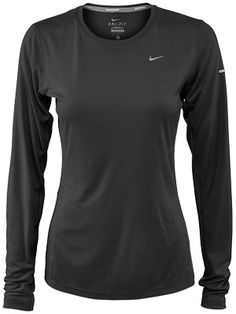 Nike Women's Miler LS Top Black & White