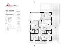 Projekt domu HomeKONCEPT-60 | HomeKONCEPT 2 Storey House Design, Dream House Exterior, Villa Design, Modern House Plans, Floor Plans, How To Plan, Final Fantasy, Houses, Art