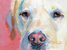 Labrador Retriever Featured Images - Marthas Pink Nose by Kimberly Santini Canvas Art, Canvas Prints, Art Prints, Nose Art, Dog Portraits, Animal Paintings, Painting Inspiration, Watercolor Paintings, Watercolors