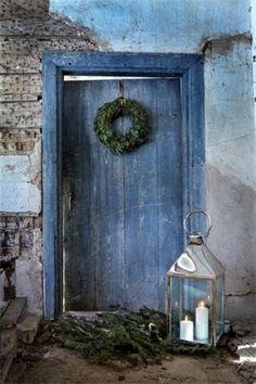 French blue door