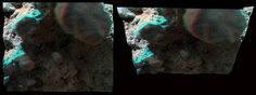 """NASA Curiosity sol 396 MAHLI 3D anaglyph ... seems to be there! - """"Courtesy NASA/JPL /Caltech/MSSS"""" processing 2di7 & titanio44"""