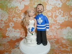 Bride and Groom Customized Wedding Cake Topper by mudcards on Etsy, $120.00