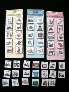 Picture Schedule with PECS..great for kids with Autism Spectrum Disorders and ADHD