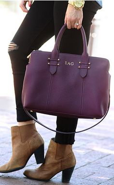 Gorgeous satchel that can hold it all - separate zipper compartments for an iPad and a Macbook Air + all your other goodies http://rstyle.me/n/p26b5nyg6