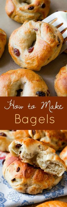 Learn how to make cinnamon raisin bagels at home! Lots of step by step pictures. Delicious recipe on sallysbakingaddiction.com