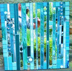 green & turquoise metropolis mirror by warnenatalie, via Flickr