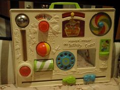 Fisher-Price Activity Center - One of my favorite childhood toys! Jouets Fisher Price, Fisher Price Toys, Vintage Fisher Price, 90s Childhood, My Childhood Memories, Sweet Memories, Childhood Images, Crib Toys, Children's Toys