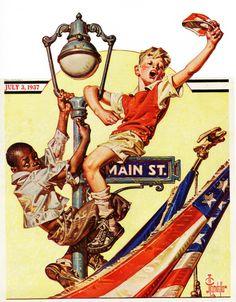 J.C. Leyendecker 4th of July poster