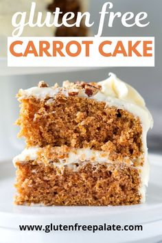 An easy to make gluten free carrot cake recipe with sheet cake and cupcake instructions. This is the best carrot cake and you can top it with cream cheese frosting or buttercream frosting. Homemade Carrot Cake, Easy Carrot Cake, Gluten Free Carrot Cake, Healthy Carrot Cakes, Healthy Cake Recipes, Gluten Free Sweets, Gluten Free Cakes, Gluten Free Deserts Easy, Best Gluten Free Cake Recipe