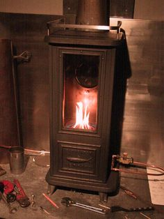 tiny cast iron woodstove