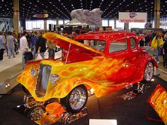 Wild Flame Job on Hotrod by carleyware, via Flickr