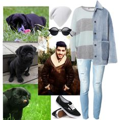 A fashion look from March 2015 featuring 360 Sweater sweaters, Burberry coats and Dondup jeans. Browse and shop related looks.