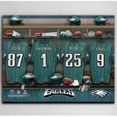 NFL Locker Room Canvas Print with free personalization( Display Super Bowl  winning Team) eea039d34