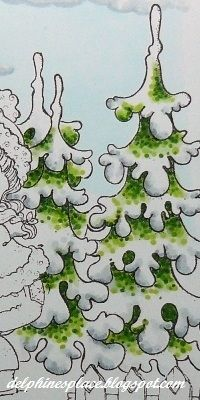 Hello everyone! Today I'd like to share a little seasonal tutorial I did for Copic Marker Europe - how to colour winter trees. Copic Marker Art, Marker Kunst, Copic Pens, Copic Art, Copic Sketch Markers, Copics, Copic Markers Tutorial, Spectrum Noir Markers, Coloring Tutorial