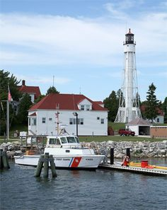 Sturgeon Bay Ship Canal, WI. Located on the northern bank of the entrance to the Sturgeon Ship Canal.