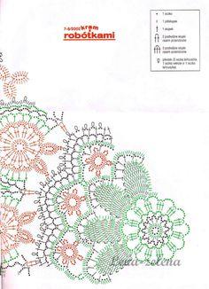 Discussion on LiveInternet - Russian Service Online Diaries Crochet Doily Diagram, Crochet Mandala Pattern, Crochet Chart, Crochet Doilies, Crochet Flowers, Crochet Patterns, Free Crochet, Crochet Books, Crochet Home